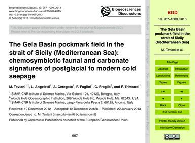 The Gela Basin Pockmark Field in the Str... by Taviani, M.