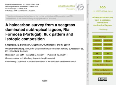 A Halocarbon Survey from a Seagrass Domi... by Weinberg, I.