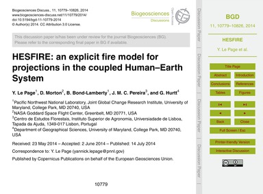 Hesfire: an Explicit Fire Model for Proj... by Le Page, Y.