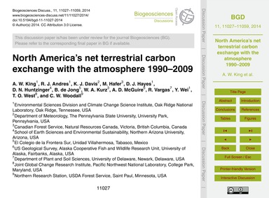 North America's Net Terrestrial Carbon E... by King, A. W.