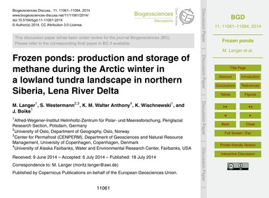 Frozen Ponds: Production and Storage of ... by Langer, M.
