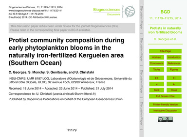 Protist Community Composition During Ear... by Georges, C.
