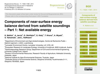 Components of Near-surface Energy Balanc... by Mallick, K.