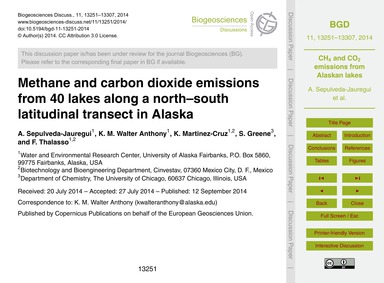 Methane and Carbon Dioxide Emissions fro... by Sepulveda-jauregui, A.
