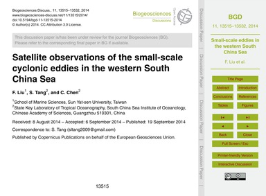 Satellite Observations of the Small-scal... by Liu, F.