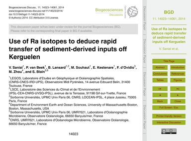 Use of Ra Isotopes to Deduce Rapid Trans... by Sanial, V.