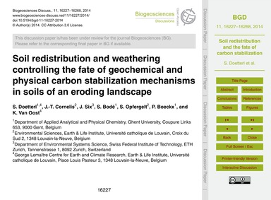 Soil Redistribution and Weathering Contr... by Doetterl, S.