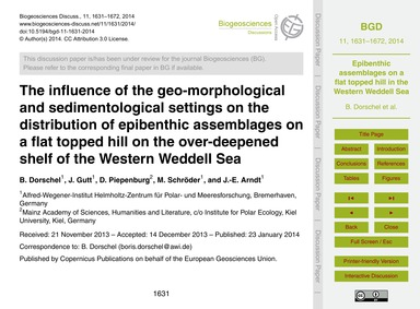 The Influence of the Geo-morphological a... by Dorschel, B.