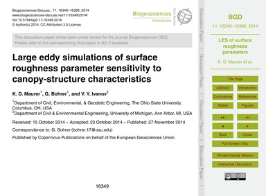 Large Eddy Simulations of Surface Roughn... by Maurer, K. D.