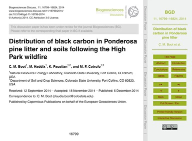 Distribution of Black Carbon in Ponderos... by Boot, C. M.