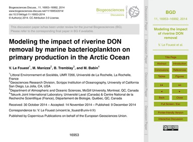 Modeling the Impact of Riverine Don Remo... by Le Fouest, V.
