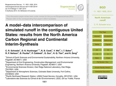 A Model–data Intercomparison of Simulate... by Schwalm, C. R.
