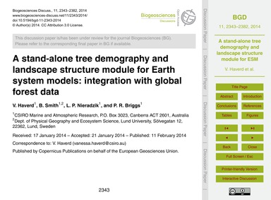 A Stand-alone Tree Demography and Landsc... by Haverd, V.