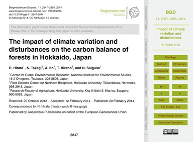 The Impact of Climate Variation and Dist... by Hirata, R.