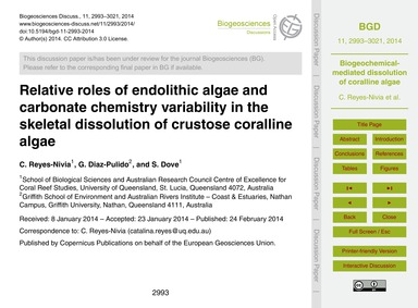 Relative Roles of Endolithic Algae and C... by Reyes-nivia, C.