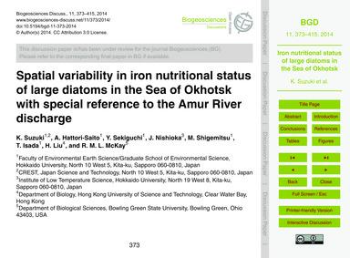 Spatial Variability in Iron Nutritional ... by Suzuki, K.