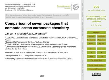 Comparison of Seven Packages That Comput... by Orr, J. C.