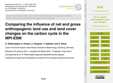 Comparing the Influence of Net and Gross... by Wilkenskjeld, S.