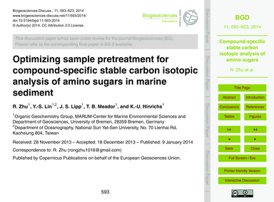 Optimizing Sample Pretreatment for Compo... by Zhu, R.