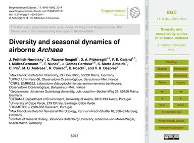 Diversity and Seasonal Dynamics of Airbo... by Fröhlich-nowoisky, J.