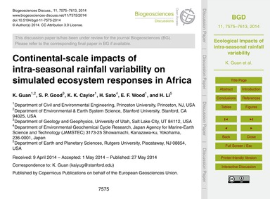 Continental-scale Impacts of Intra-seaso... by Guan, K.