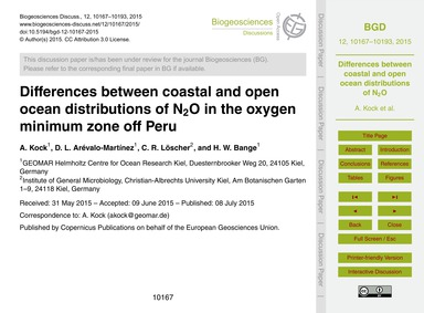 Differences Between Coastal and Open Oce... by Kock, A.