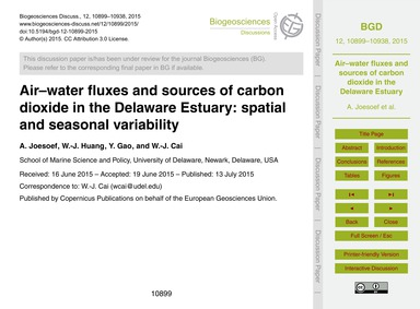 Air–water Fluxes and Sources of Carbon D... by Joesoef, A.
