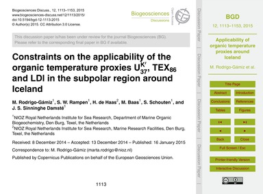 Constraints on the Applicability of the ... by Rodrigo-gámiz, M.