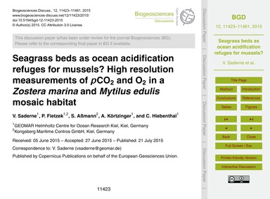 Seagrass Beds as Ocean Acidification Ref... by Saderne, V.