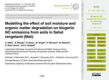 Modelling the Effect of Soil Moisture an... by Delon, C.