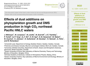 Effects of Dust Additions on Phytoplankt... by Mélançon, J.
