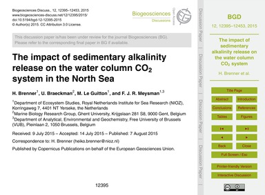 The Impact of Sedimentary Alkalinity Rel... by Brenner, H.