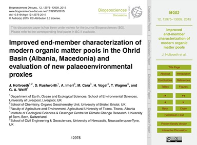 Improved End-member Characterization of ... by Holtvoeth, J.