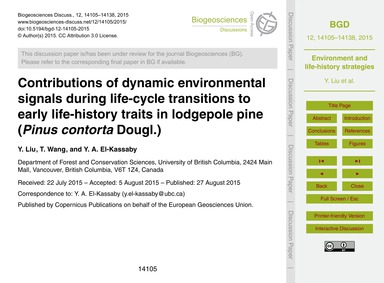 Contributions of Dynamic Environmental S... by Liu, Y.