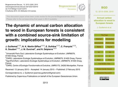 The Dynamic of Annual Carbon Allocation ... by Guillemot, J.