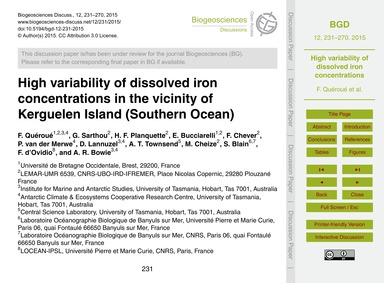 High Variability of Dissolved Iron Conce... by Quéroué, F.