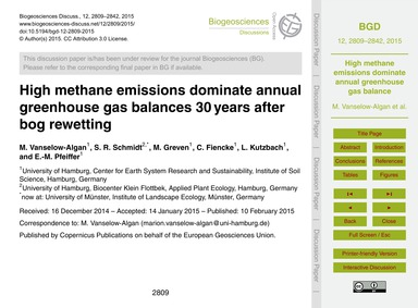 High Methane Emissions Dominate Annual G... by Vanselow-algan, M.