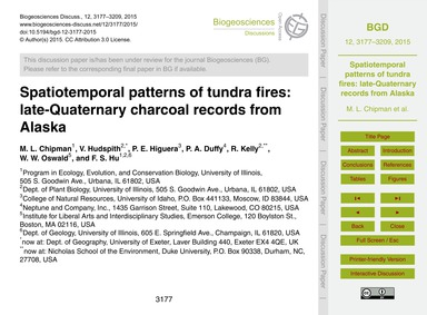 Spatiotemporal Patterns of Tundra Fires:... by Chipman, M. L.