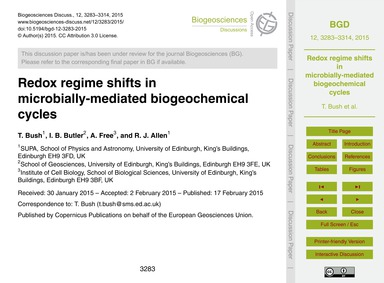 Redox Regime Shifts in Microbially-media... by Bush, T.
