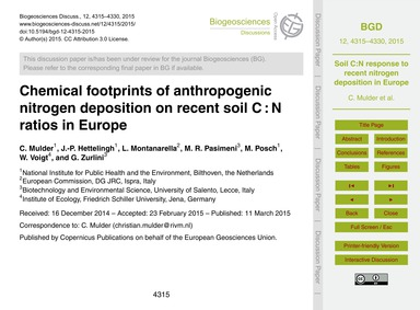 Chemical Footprints of Anthropogenic Nit... by Mulder, C.
