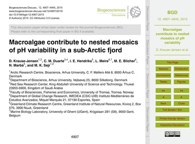 MacRoalgae Contribute to Nested Mosaics ... by Krause-jensen, D.