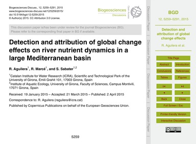Detection and Attribution of Global Chan... by Aguilera, R.