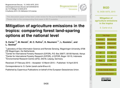 Mitigation of Agriculture Emissions in t... by Carter, S.