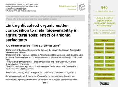 Linking Dissolved Organic Matter Composi... by Hernandez-soriano, M. C.