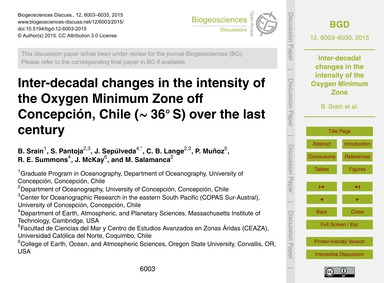 Inter-decadal Changes in the Intensity o... by Srain, B.