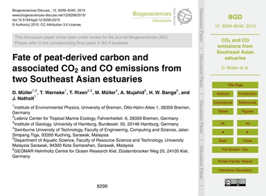 Fate of Peat-derived Carbon and Associat... by Müller, D.