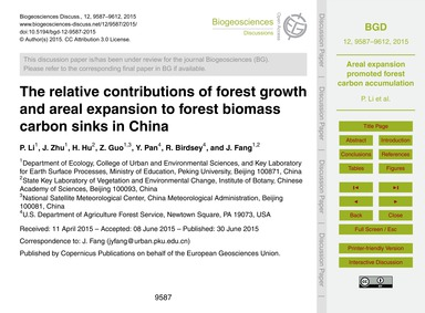 The Relative Contributions of Forest Gro... by Li, P.