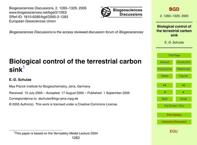 Biological Control of the Terrestrial Ca... by Schulze, E.-d.