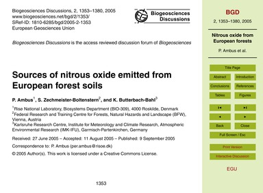 Sources of Nitrous Oxide Emitted from Eu... by Ambus, P.
