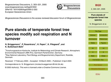 Pure Stands of Temperate Forest Tree Spe... by Brüggemann, N.